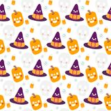 Halloween beautiful patterns with elements. Vector Stock Image