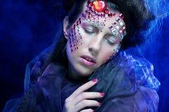 Halloween Beauty style woman makeup Royalty Free Stock Image