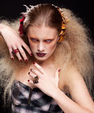 Halloween Beauty woman makeup Stock Photography