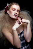Halloween Beauty woman makeup Royalty Free Stock Image