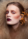 Halloween Beauty woman makeup Stock Image