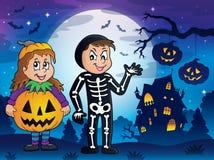 Halloween-beeld 4 van het kostuumsthema Stock Afbeelding