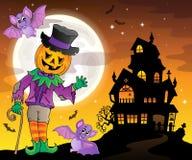 Halloween-beeld 3 van het themacijfer stock illustratie
