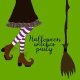 Halloween-beeldverhaalheks stock illustratie
