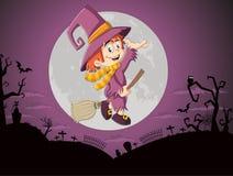Halloween-begraafplaatsachtergrond vector illustratie