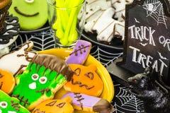 Halloween behandelt stock foto