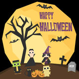 Halloween-behang Stock Foto