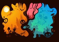 halloween berättelse royaltyfri illustrationer