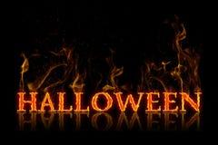 Halloween-Beschriftung in der englischen Sprache stockbilder