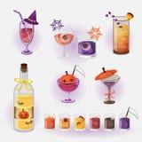 Halloween beverage. Vector illustration several Halloween beverage vector illustration