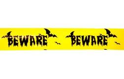 Halloween beware banner studio Royalty Free Stock Photos