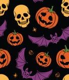 Halloween bezszwowy Zdjęcia Stock