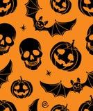 Halloween bezszwowy Fotografia Royalty Free