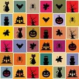 halloween bezszwowy deseniowy ilustracja wektor