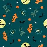 halloween bezszwowy deseniowy Obrazy Stock