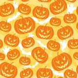 Halloween bezszwowy tło Zdjęcia Royalty Free