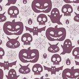 Halloween bezszwowy tło Obrazy Royalty Free