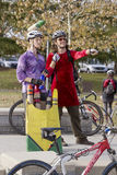 Halloween Bicyclists Stock Photography