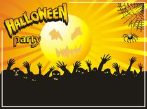 Halloween big party Stock Image