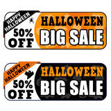 Halloween big sale banners Stock Image