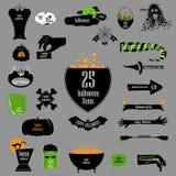 Halloween big set of badges. Vector backgrounds, infographic rib Stock Photo