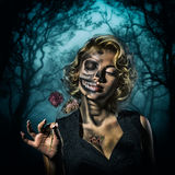 """Halloween-Bild †""""weibliches Porträt Lizenzfreie Stockfotografie"""