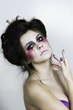 Halloween bilden schönes Modell mit perfekter Frisur Stockfotos