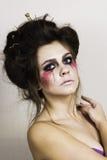 Halloween bilden schönes Modell mit perfekter Frisur Lizenzfreie Stockbilder