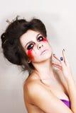 Halloween bilden schönes Modell mit perfekter Frisur retouch Stockfotos