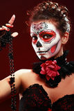 Halloween bilden Zuckerschädel Lizenzfreies Stockfoto