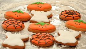 Halloween Biscuits. Delicious Halloween Biscuits which are ready to eat stock photography