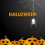 Halloween black  background Stock Image