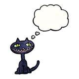 Halloween black cat cartoon Stock Photos
