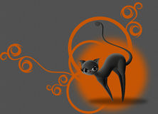 Halloween Black Cat Royalty Free Stock Photo