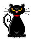 Halloween Black Cat Sitting Royalty Free Stock Images