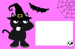 Halloween black cat witch background3 Royalty Free Stock Photo
