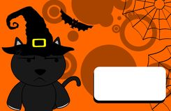 Halloween black cat witch background5 Royalty Free Stock Images