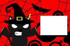 Halloween black cat witch background6 Stock Image