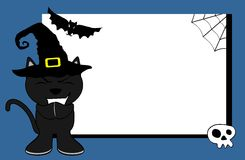 Halloween black cat witch background7 Royalty Free Stock Image
