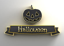 Halloween - black and gold 3D quality render on the background w Stock Image