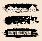Halloween black grunge banners Royalty Free Stock Photos