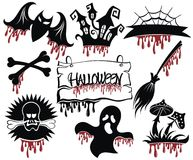 Halloween black icon set Royalty Free Stock Photography