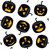 Halloween Black Pumpkins Seamless Royalty Free Stock Images