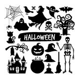 Halloween black silhouettes Stock Photos