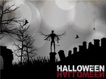 Halloween black and white background Royalty Free Stock Photos