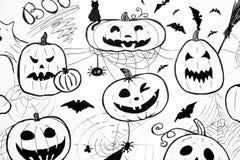 Halloween black and white concept. Stock Photo