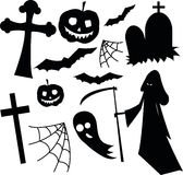 Halloween black and white horror set Stock Photography