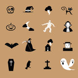 Halloween black and white icon Stock Photos