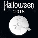 Halloween black and white is stock illustration