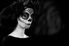Halloween in black and white Royalty Free Stock Photo